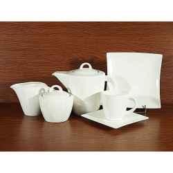 Serwis Kawowy Herbaciany 21el na 6 osób WHITE
