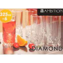 SZKLANKI DO DRINKÓW DIAMOND AMBITION WYSOKI 325ML