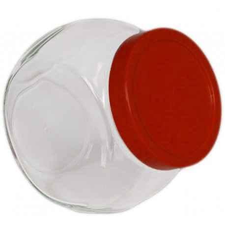 Słoik z czerwoną pokrywką Bella 1,5 l PASABAHCE