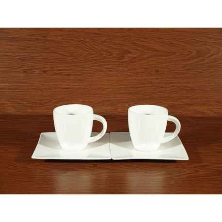 Kpl. 2 FILIŻANEK Kawowy Herbaciany WHITE